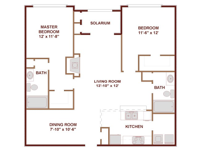 1,270 sq. ft. Lone Star floor plan