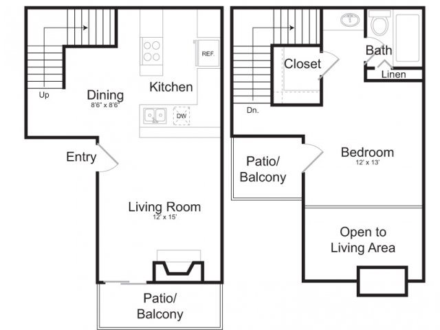 800 sq. ft. A4 floor plan