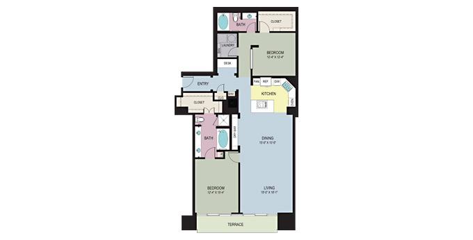 1,752 sq. ft. E floor plan