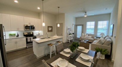 Living/Kitchen at Listing #329085