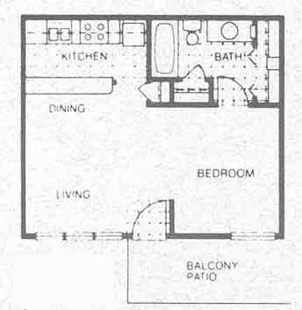 472 sq. ft. EFF/1A floor plan