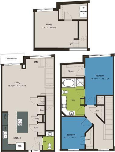 1,572 sq. ft. TSD floor plan