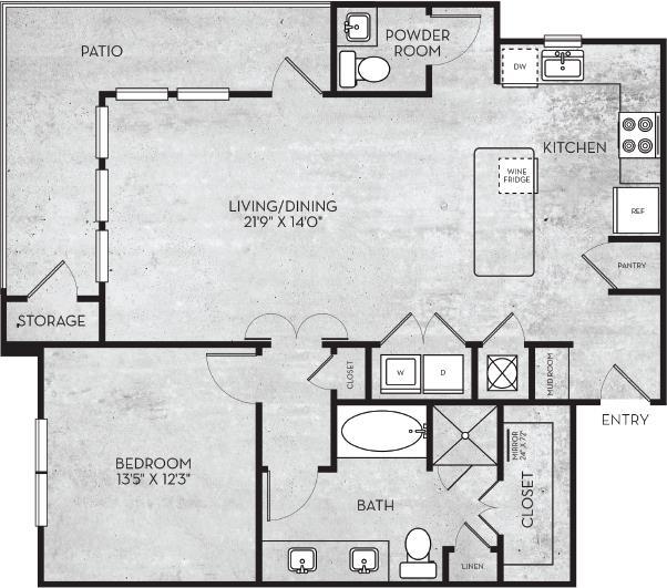 994 sq. ft. Salt Lake floor plan