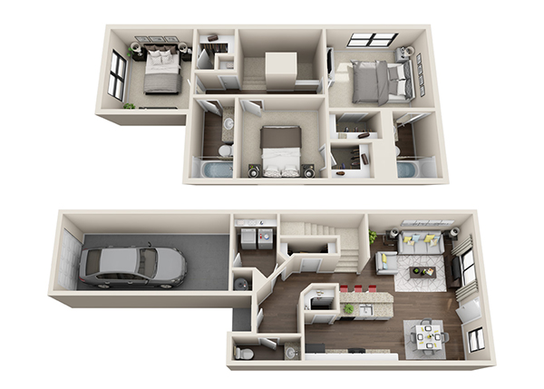 1,175 sq. ft. Penelope floor plan