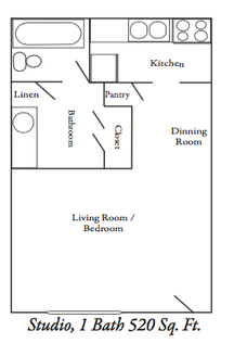 520 sq. ft. ABP floor plan