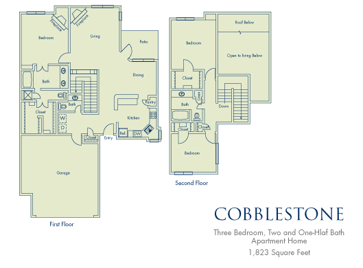 1,823 sq. ft. C3 floor plan
