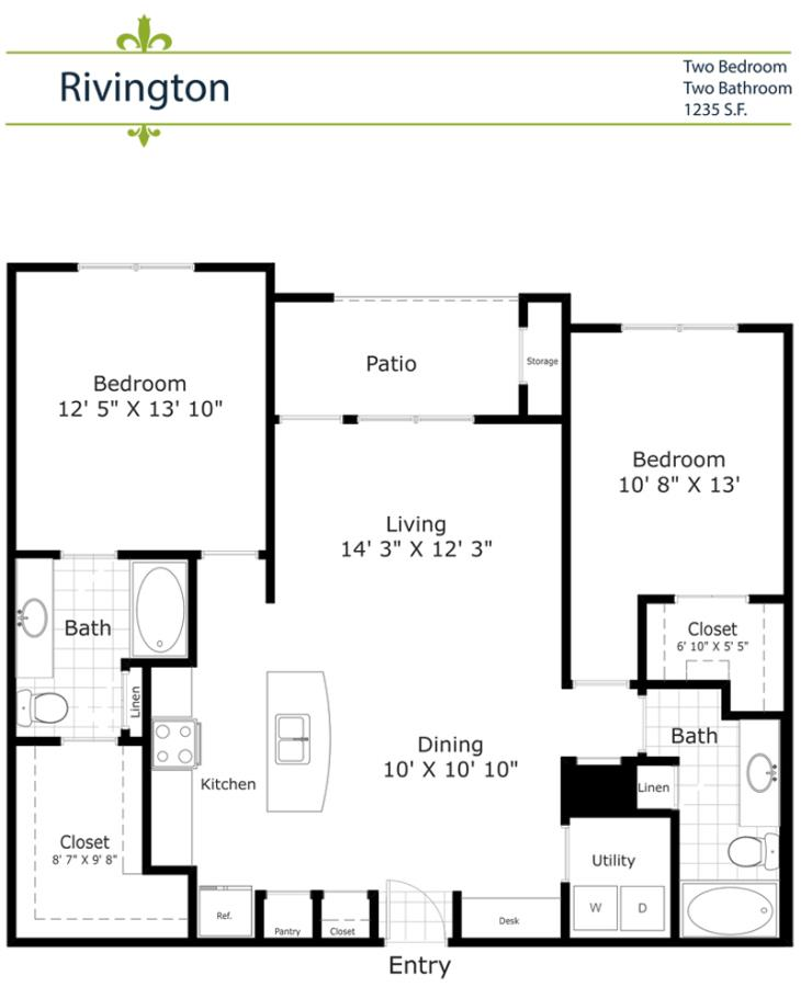 1,150 sq. ft. B4/Rivington 2nd&3rd Floor floor plan