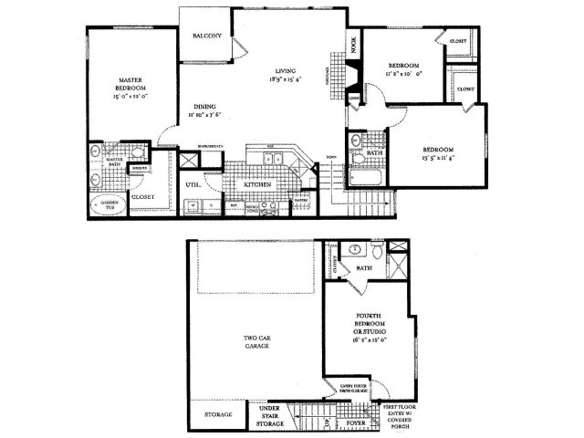 1,741 sq. ft. Genoa floor plan