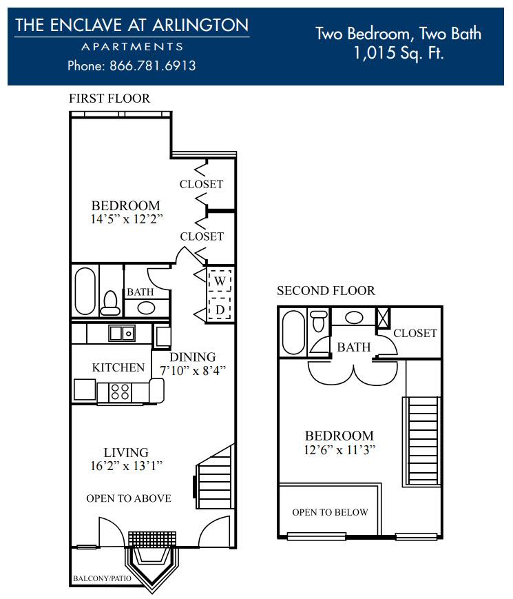1,015 sq. ft. I floor plan