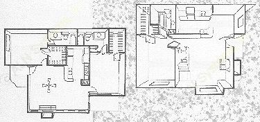 1,000 sq. ft. Wood Path floor plan