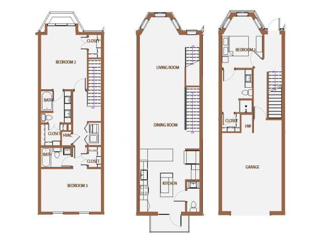 1,946 sq. ft. TH-3 floor plan