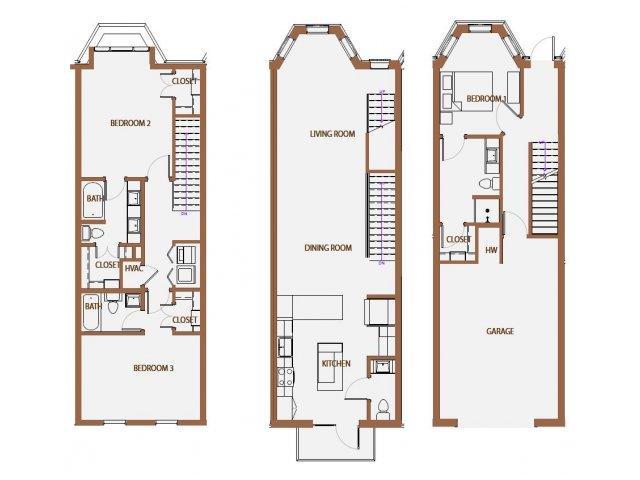 1,946 sq. ft. TH-3 floor plan