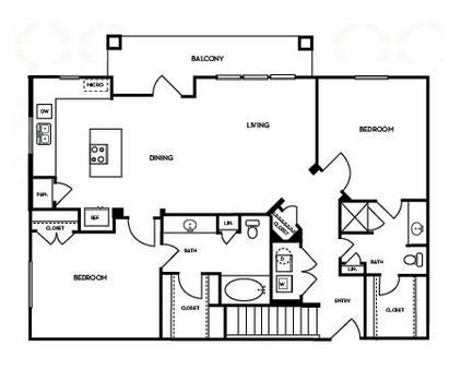 1,199 sq. ft. B2.4G floor plan