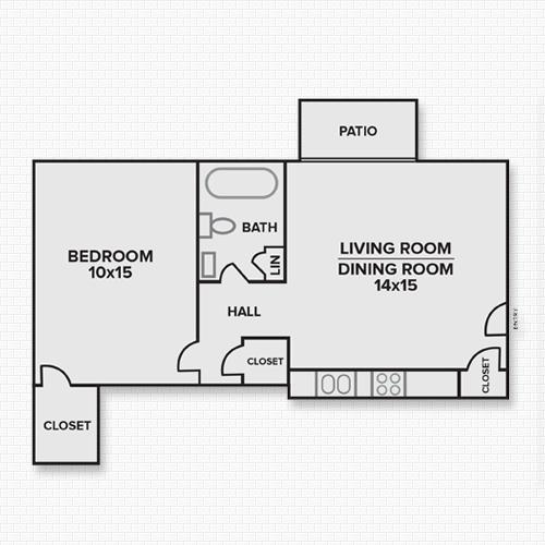 459 sq. ft. Franklin floor plan