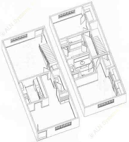 1,000 sq. ft. T1 floor plan
