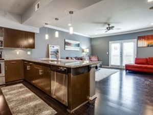 Living/Kitchen at Listing #308202