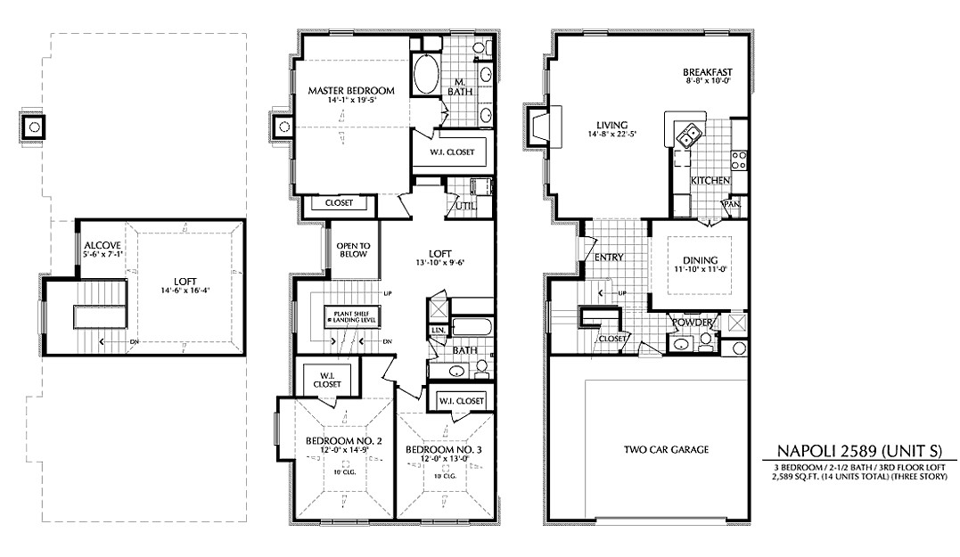 2,589 sq. ft. S floor plan
