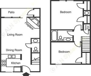 825 sq. ft. B1/ARBORETUM floor plan