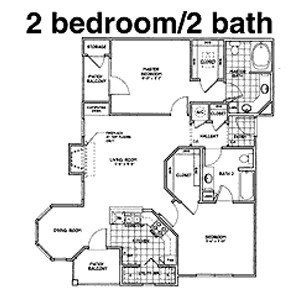 1,270 sq. ft. D floor plan
