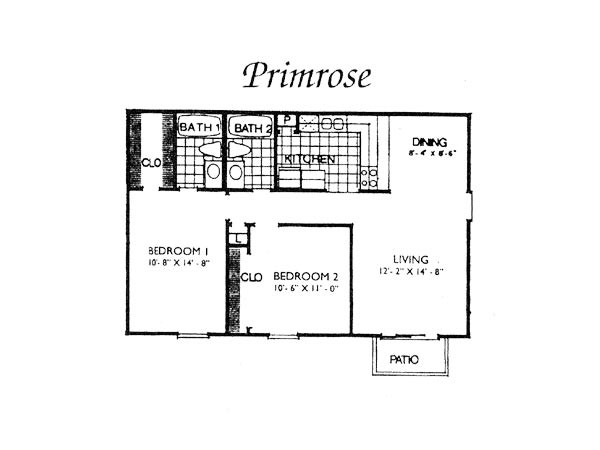 876 sq. ft. I B1 floor plan