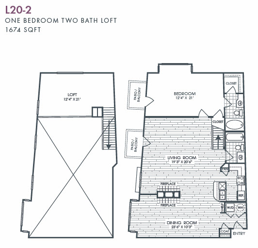 1,674 sq. ft. L20-2 floor plan