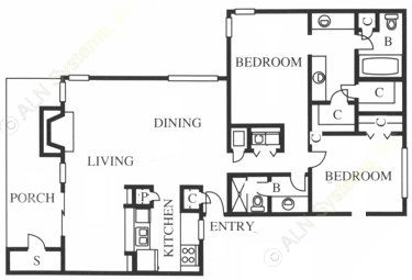 1,413 sq. ft. B5 floor plan