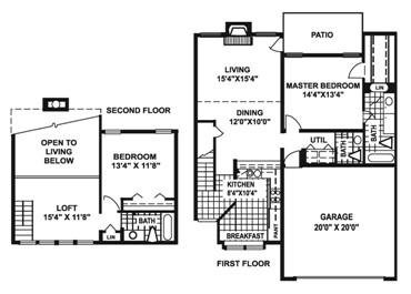 1,461 sq. ft. O2 floor plan