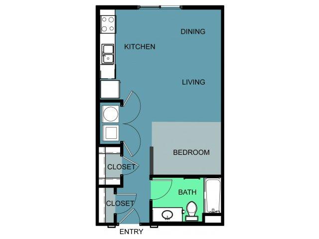 558 sq. ft. Sinclair floor plan