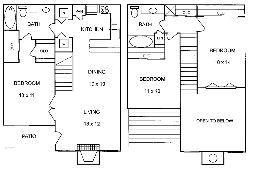 1,193 sq. ft. Ponderosa floor plan