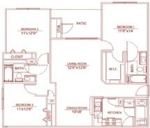 1,225 sq. ft. C1 winsford floor plan