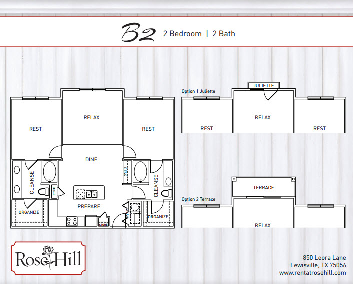 1,238 sq. ft. A5TSP floor plan
