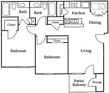 871 sq. ft. floor plan