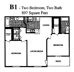 897 sq. ft. G floor plan