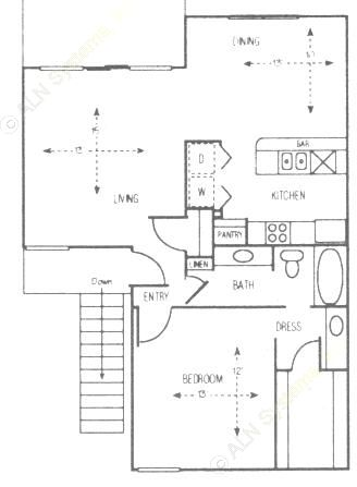875 sq. ft. Bur Oak floor plan