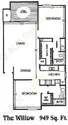 949 sq. ft. F floor plan