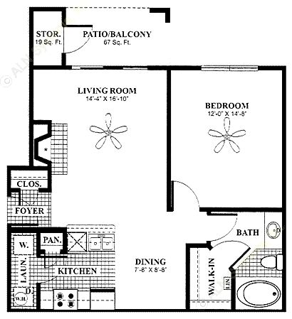 751 sq. ft. Gazebo floor plan