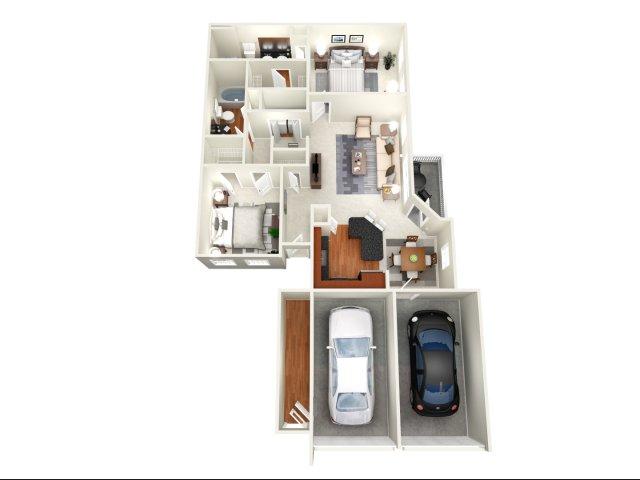 1,256 sq. ft. Atlanta I floor plan