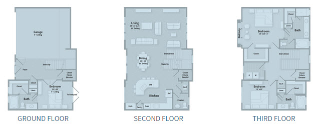 2,407 sq. ft. T2B floor plan