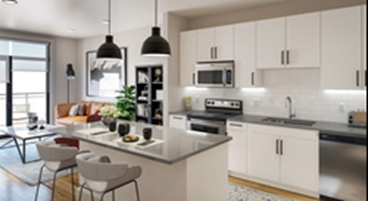 Living/Kitchen at Listing #335786