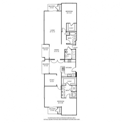 2,324 sq. ft. L4 floor plan