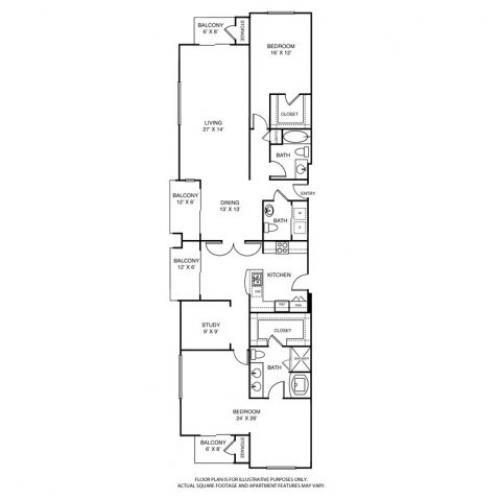 2,324 sq. ft. L4 floor plan