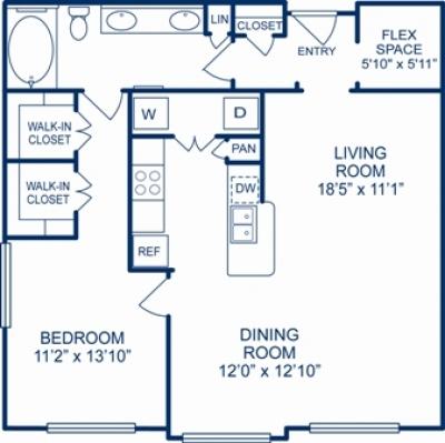 965 sq. ft. LAS VEGAS floor plan