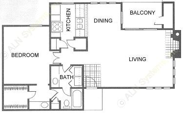 867 sq. ft. floor plan