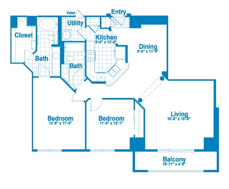 1,372 sq. ft. BT1/BT1.1 floor plan