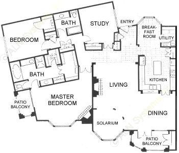 2,296 sq. ft. C3 floor plan