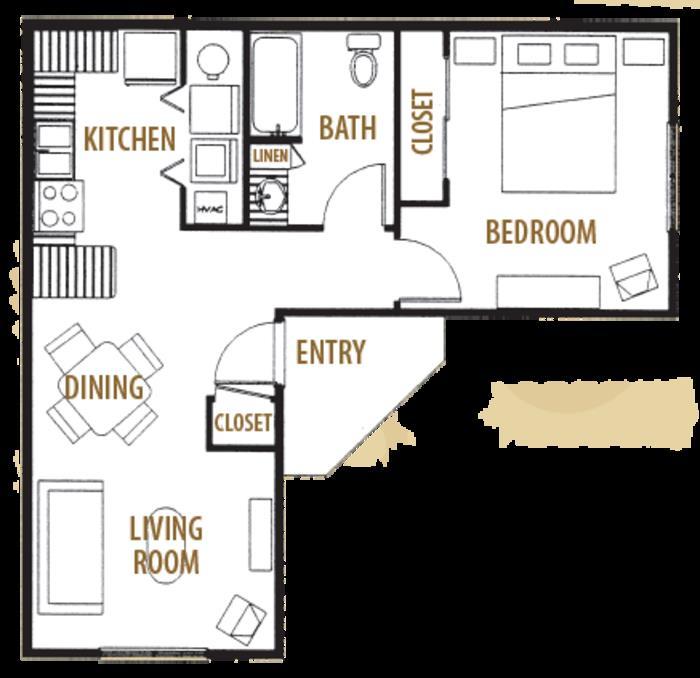 653 sq. ft. 40 floor plan