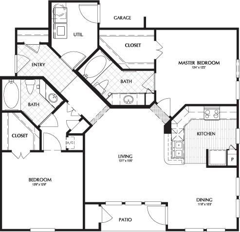 1,226 sq. ft. CAMERON floor plan