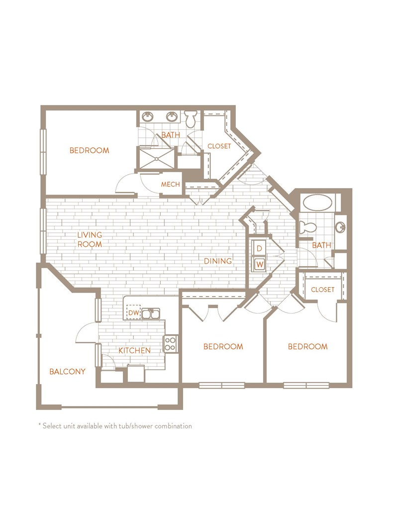 1,540 sq. ft. C1 floor plan