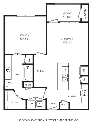 797 sq. ft. A10 floor plan
