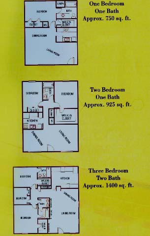 750 sq. ft. to 800 sq. ft. floor plan